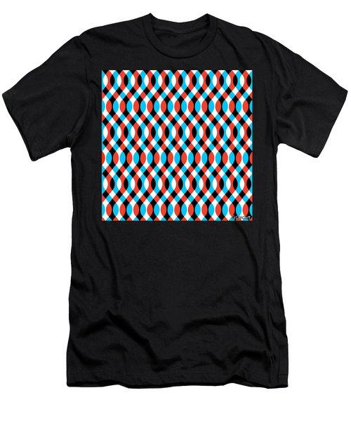 Brain Waves - Blue Men's T-Shirt (Athletic Fit)