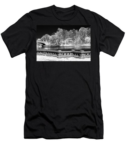 Men's T-Shirt (Slim Fit) featuring the photograph Branch Brook Park New Jersey Ir by Susan Candelario