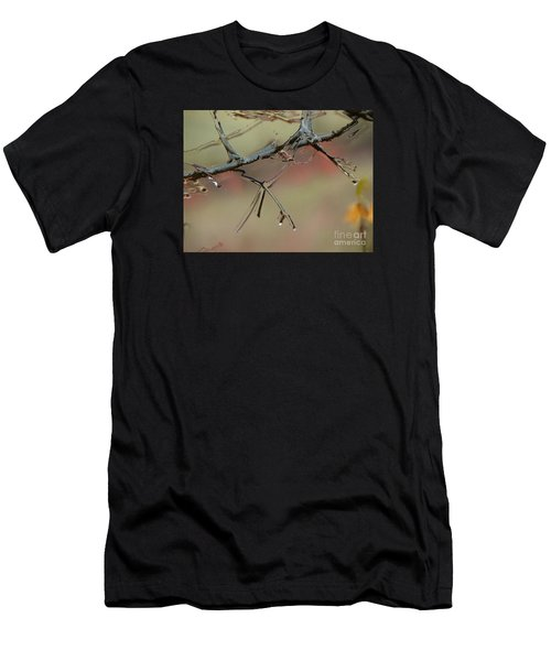 Branch With Water Abstract Men's T-Shirt (Athletic Fit)
