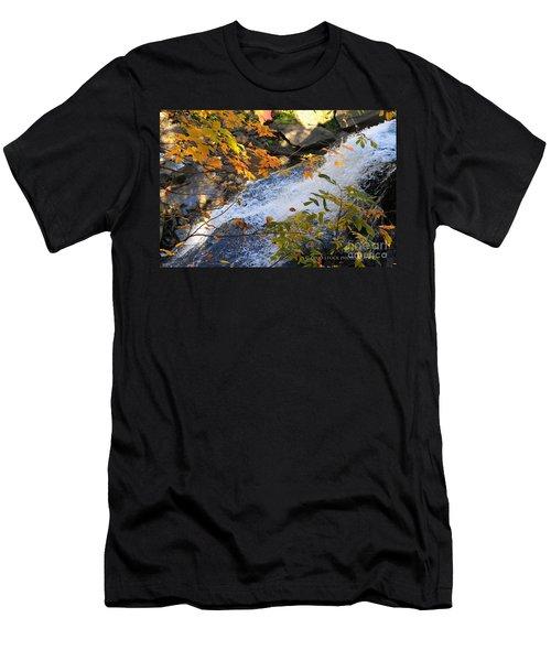 D30a-18 Brandywine Falls Photo Men's T-Shirt (Athletic Fit)