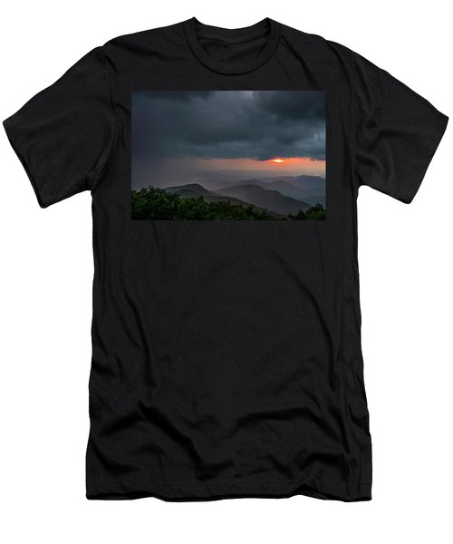 Men's T-Shirt (Athletic Fit) featuring the photograph Brasstown Bald Sunset by Michael Sussman