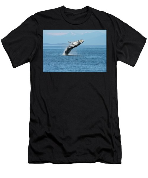Breaching Humpback Whales Happy-3 Men's T-Shirt (Athletic Fit)