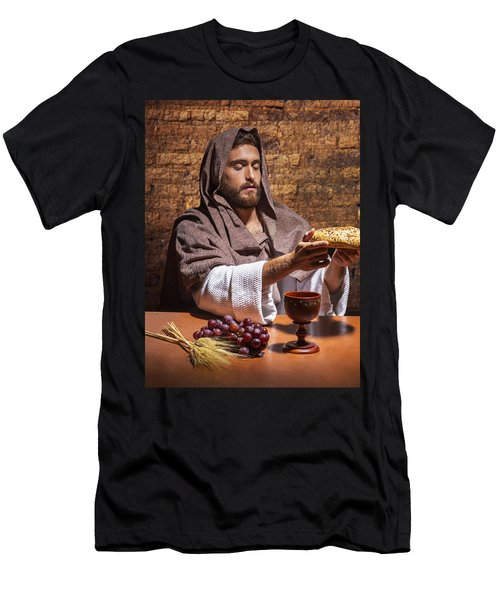 Men's T-Shirt (Slim Fit) featuring the painting Bread Of Life by Karen Showell