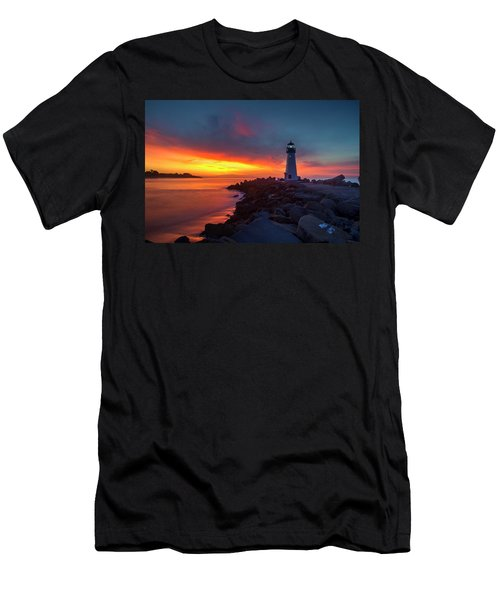 Break Of Day At Walton Lighthouse Men's T-Shirt (Athletic Fit)