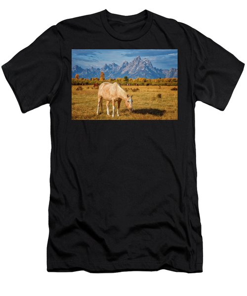 Breakfast In The Tetons Men's T-Shirt (Athletic Fit)