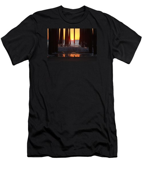 Breaking Dawn At The Pier Men's T-Shirt (Athletic Fit)