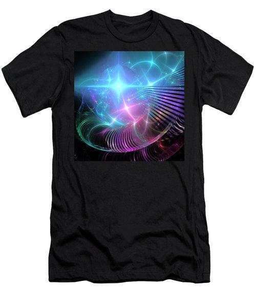 Men's T-Shirt (Slim Fit) featuring the digital art Breaking Through The Portal by Svetlana Nikolova