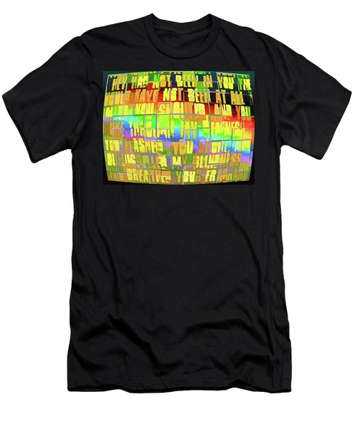 Men's T-Shirt (Slim Fit) featuring the photograph Breakthrough by Kathy Bassett