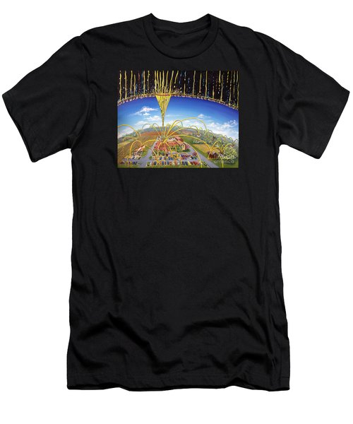 Men's T-Shirt (Athletic Fit) featuring the painting Breakthrough by Nancy Cupp