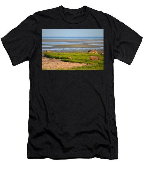 Breakwater Beach At Low Tide Men's T-Shirt (Athletic Fit)