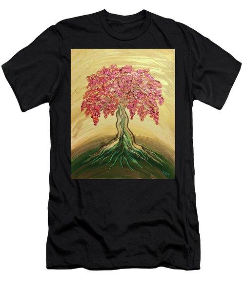 Breathe Golden Peace Men's T-Shirt (Athletic Fit)