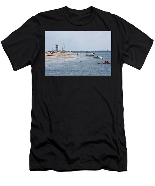 Breezy Point Lighthouse Men's T-Shirt (Athletic Fit)