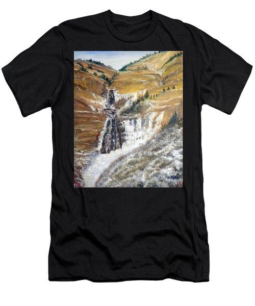 Bridal Veil Falls In Winter Men's T-Shirt (Athletic Fit)