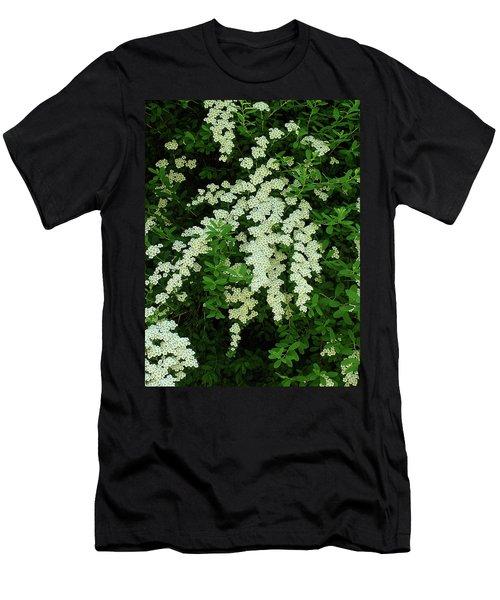 Bridal Wreath Men's T-Shirt (Slim Fit) by Shirley Heyn
