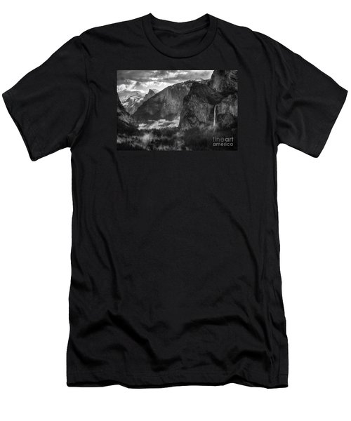 Bridalvail Falls And Half Dome Men's T-Shirt (Athletic Fit)