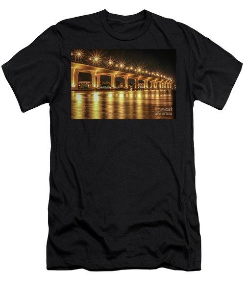 Bridge And Golden Water Men's T-Shirt (Athletic Fit)