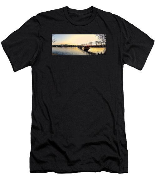 Bridge And New Hope At Sunset Men's T-Shirt (Athletic Fit)