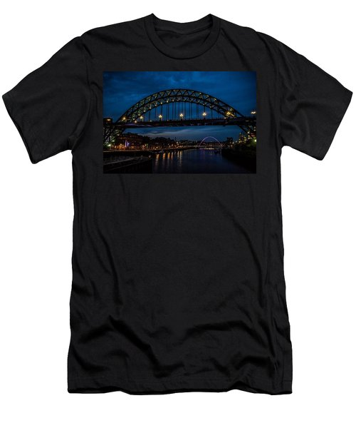 Bridge At Dusk Men's T-Shirt (Athletic Fit)