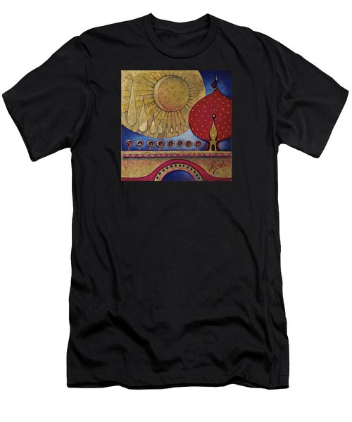 Bridge Between Sunrise And Moonrise Men's T-Shirt (Athletic Fit)