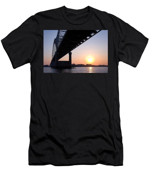 Bridge Over Mississippi River Men's T-Shirt (Athletic Fit)