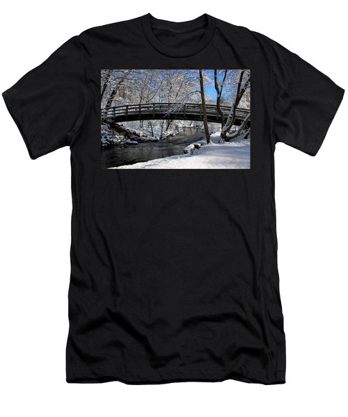Bridge In Winter Men's T-Shirt (Athletic Fit)