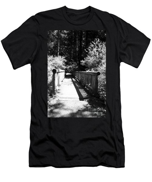 Men's T-Shirt (Athletic Fit) featuring the photograph Bridge In Woods by Yulia Kazansky