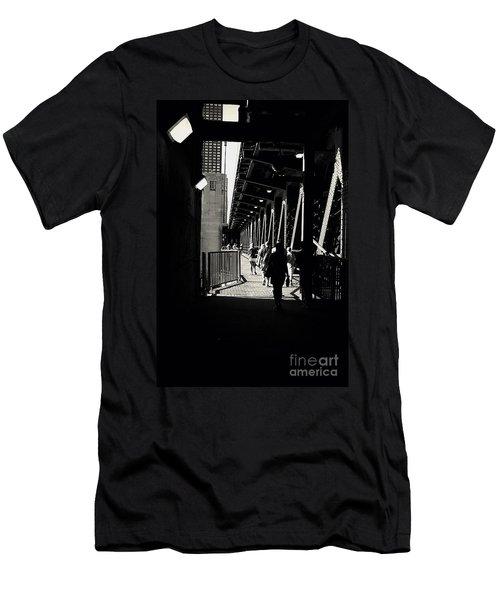 Bridge - Lower Lake Shore Drive At Navy Pier Chicago. Men's T-Shirt (Athletic Fit)