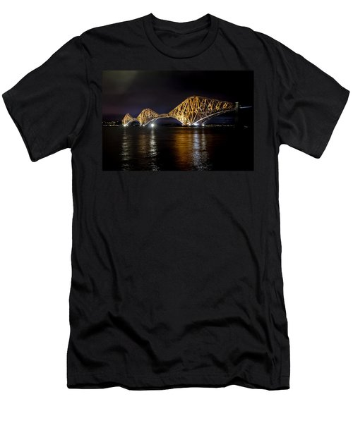 Bridge Over Water Lights. Men's T-Shirt (Athletic Fit)