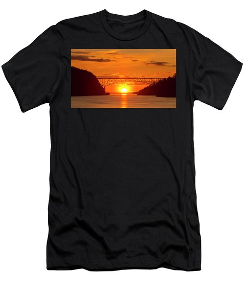 Bridge Sunset Men's T-Shirt (Athletic Fit)
