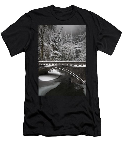 Bridges Of Multnomah Falls Men's T-Shirt (Slim Fit) by Wes and Dotty Weber