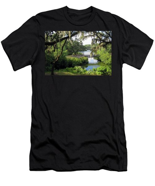 Bridges Over Tranquil Waters Men's T-Shirt (Athletic Fit)
