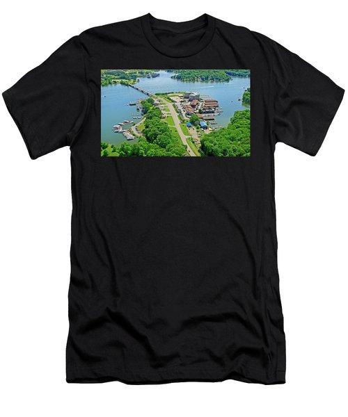 Bridgewater Plaza Aerial Men's T-Shirt (Athletic Fit)