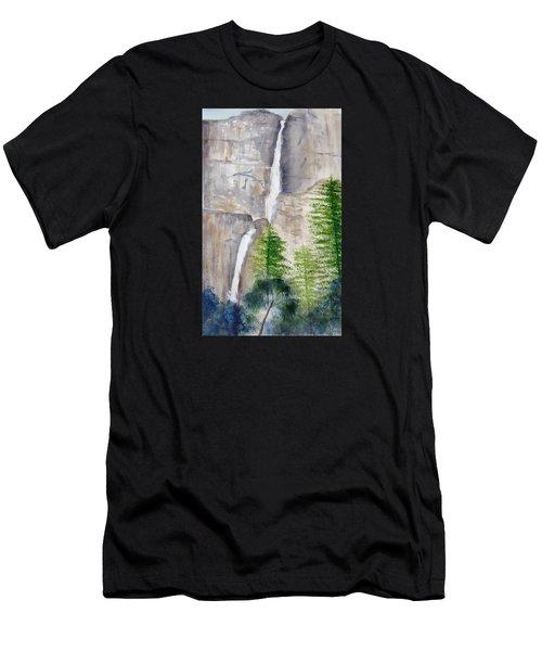 Bridal Veil Waterfall Men's T-Shirt (Athletic Fit)
