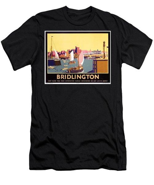 Bridlington Port, Yorkshire,great Britain, Travel Poster  Men's T-Shirt (Athletic Fit)