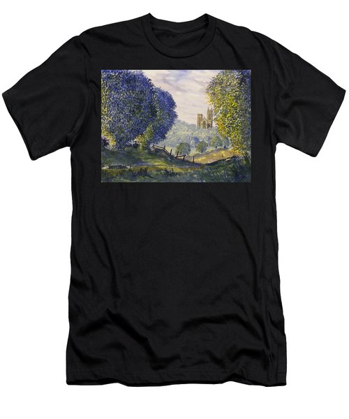 Bridlington Priory From Woldgate On The Hockney Trail Men's T-Shirt (Athletic Fit)