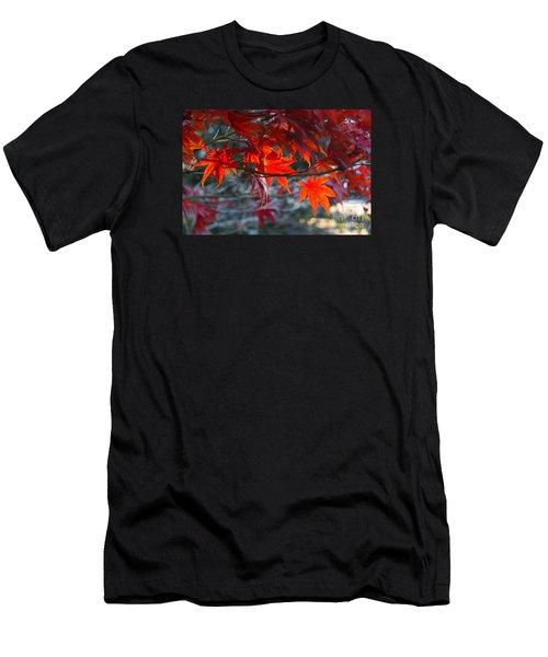 Bright Autumn Leaves Men's T-Shirt (Athletic Fit)