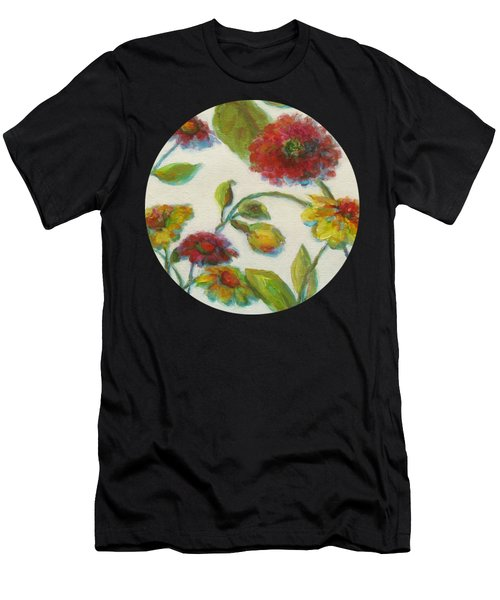 Bright Contemporary Floral  Men's T-Shirt (Athletic Fit)