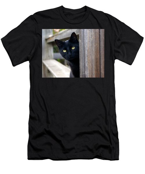 Bright Eyed Kitty Men's T-Shirt (Slim Fit)