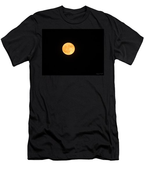 Bright Orange Moon Men's T-Shirt (Athletic Fit)