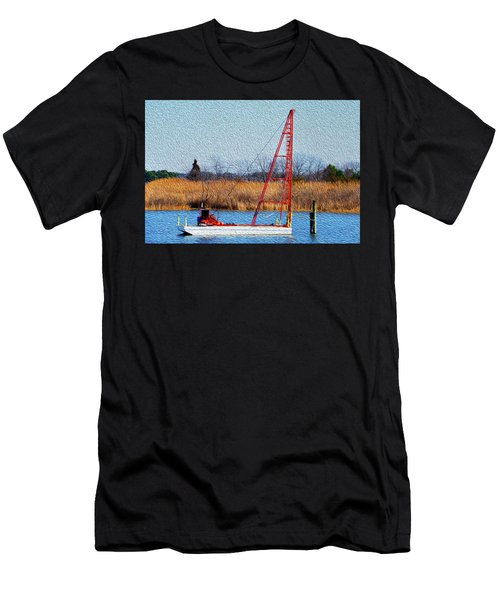 Bright Paintery Barge Men's T-Shirt (Athletic Fit)