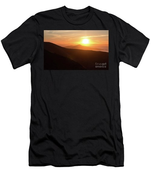 Bright Sun Rising Over The Mountains Men's T-Shirt (Athletic Fit)