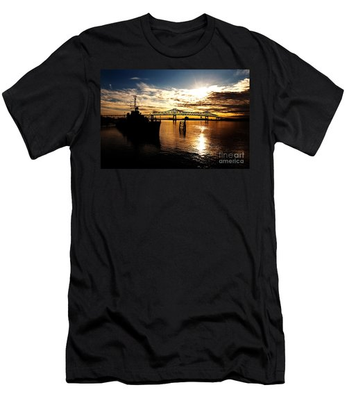 Bright Time On The River Men's T-Shirt (Athletic Fit)