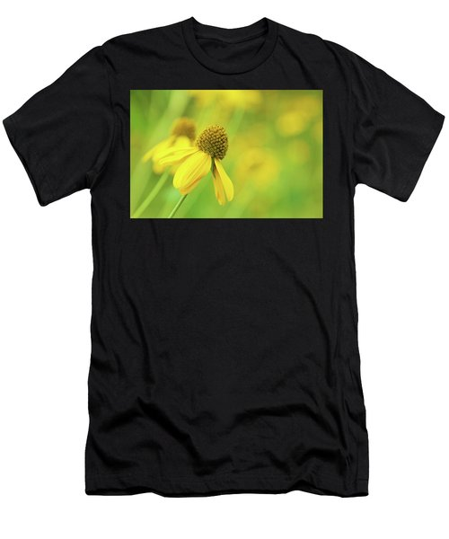 Bright Yellow Flower Men's T-Shirt (Athletic Fit)