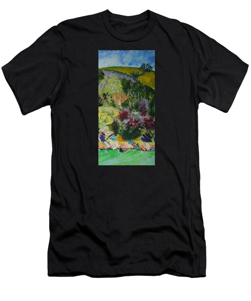 Brightly Colored Devon Landscape - Dartmouth England Men's T-Shirt (Athletic Fit)