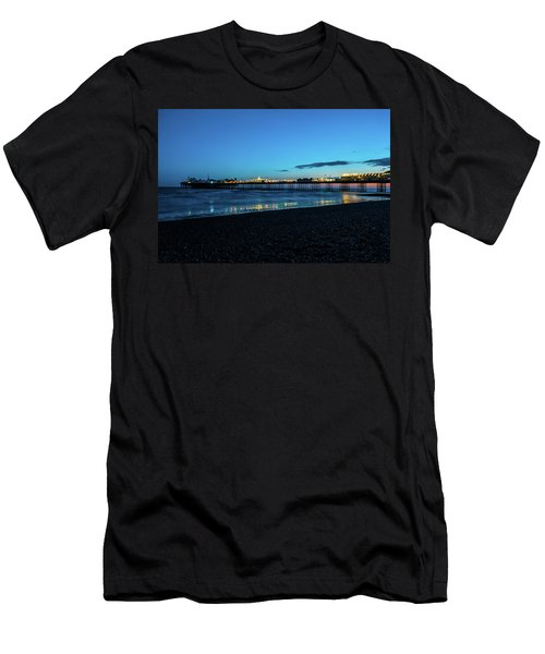 Brighton Pier At Sunset Ix Men's T-Shirt (Athletic Fit)