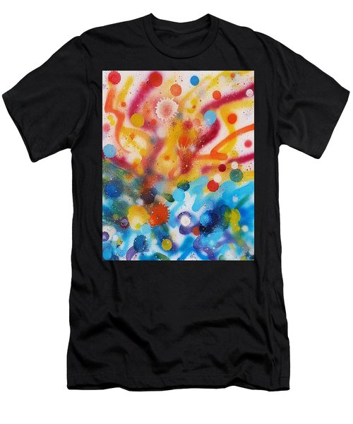Bringing Life Spray Painting  Men's T-Shirt (Athletic Fit)