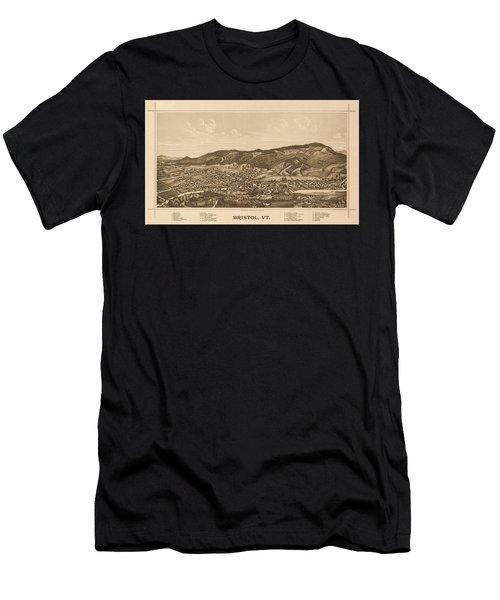 Antique Bristol, Vt. Men's T-Shirt (Athletic Fit)