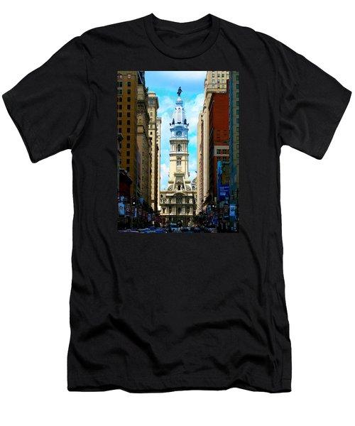 Philadelphia Men's T-Shirt (Slim Fit) by Christopher Woods