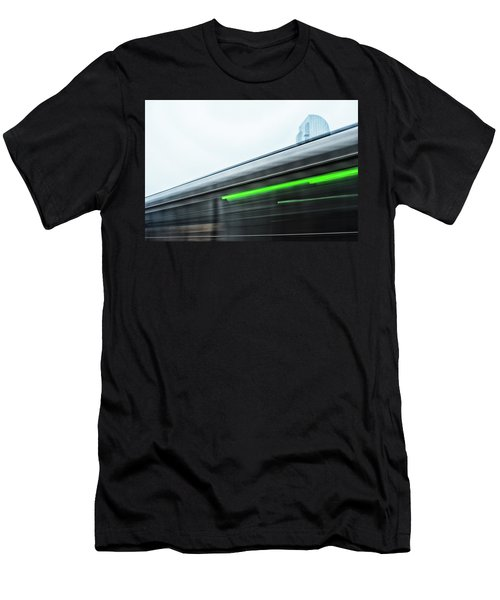 Broadway Bridge Abstract 2 Chromatic Men's T-Shirt (Athletic Fit)