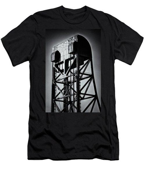 Broadway Bridge South Tower Detail 1 Monochrome Men's T-Shirt (Athletic Fit)